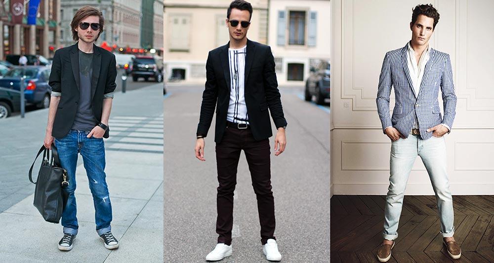 Как выбрать пиджак под джинсы мужской